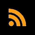 Ícone de um feed; um círculo pequeno no canto inferior esquerdo com mais dois semi-círculos representando ondas sonoras