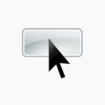 ponteiro do mouse em cima de um botão retangular com cantos arredondados