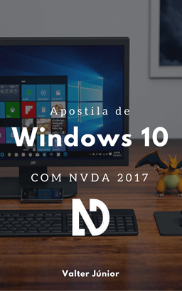 Capa do livro digital apostila de Windows 10 com NVDA 2017