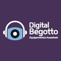 Logotipo loja online com produtos para deficientes visuais Digital Begotto